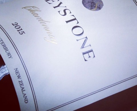 Greystone Chardonnay 2015 label - featuring True Matt Highbuild, gold foiling, and metallic ink