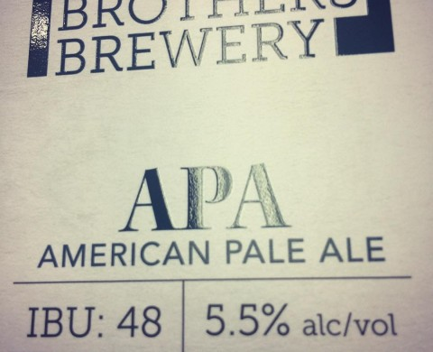 Kaiser Brothers Brewery APA label with screen gloss varnish